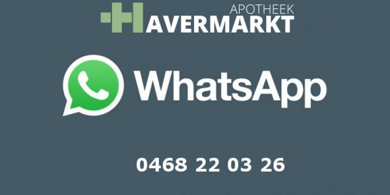 Nu ook bereikbaar met Whatsapp!
